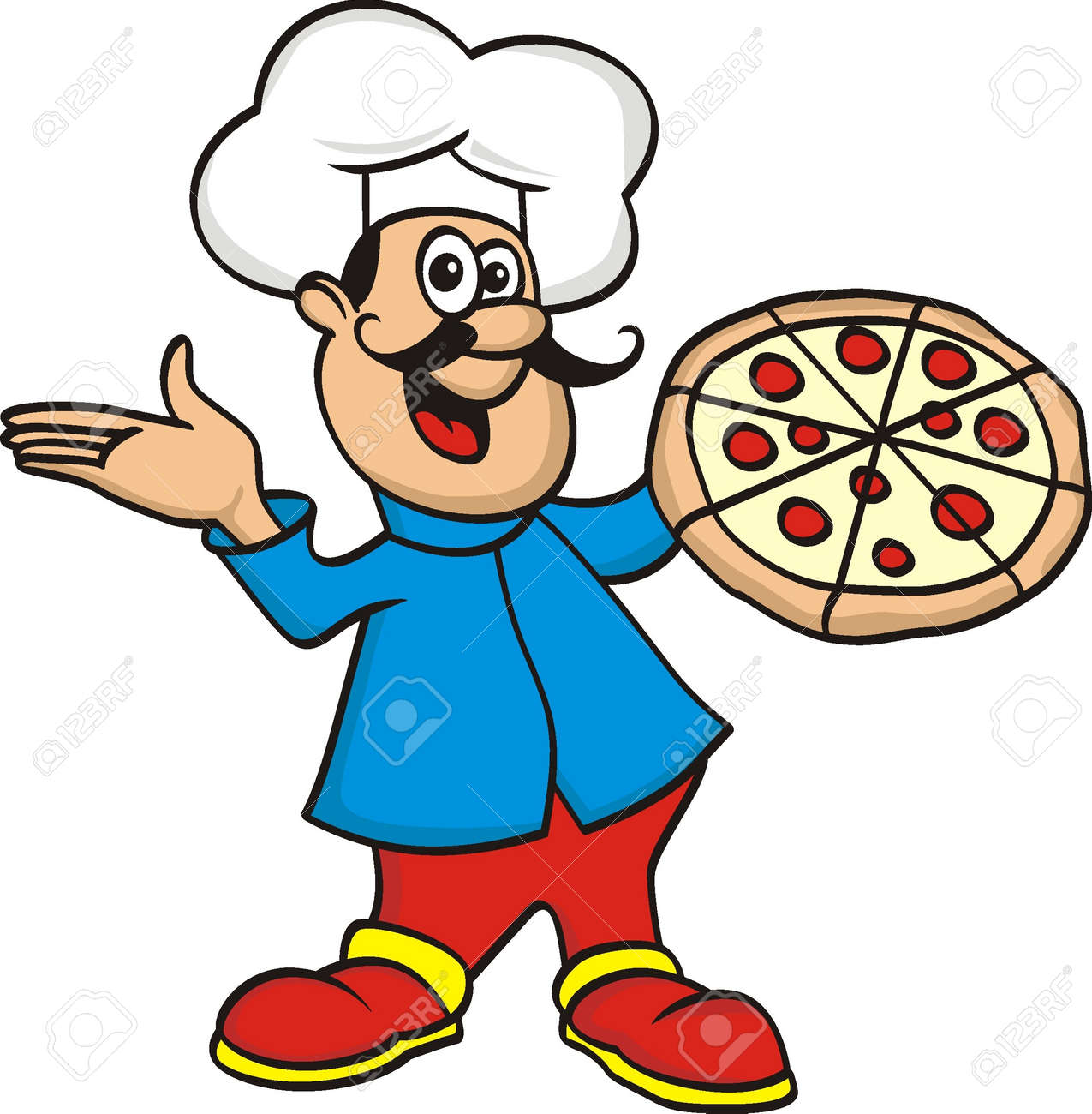 chef with pizza - 21023254