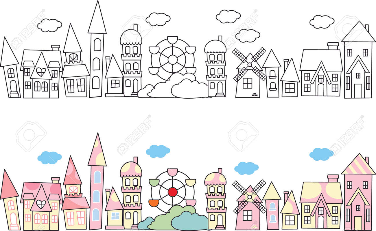 City skylines in doodle style Stock Vector - 22198464