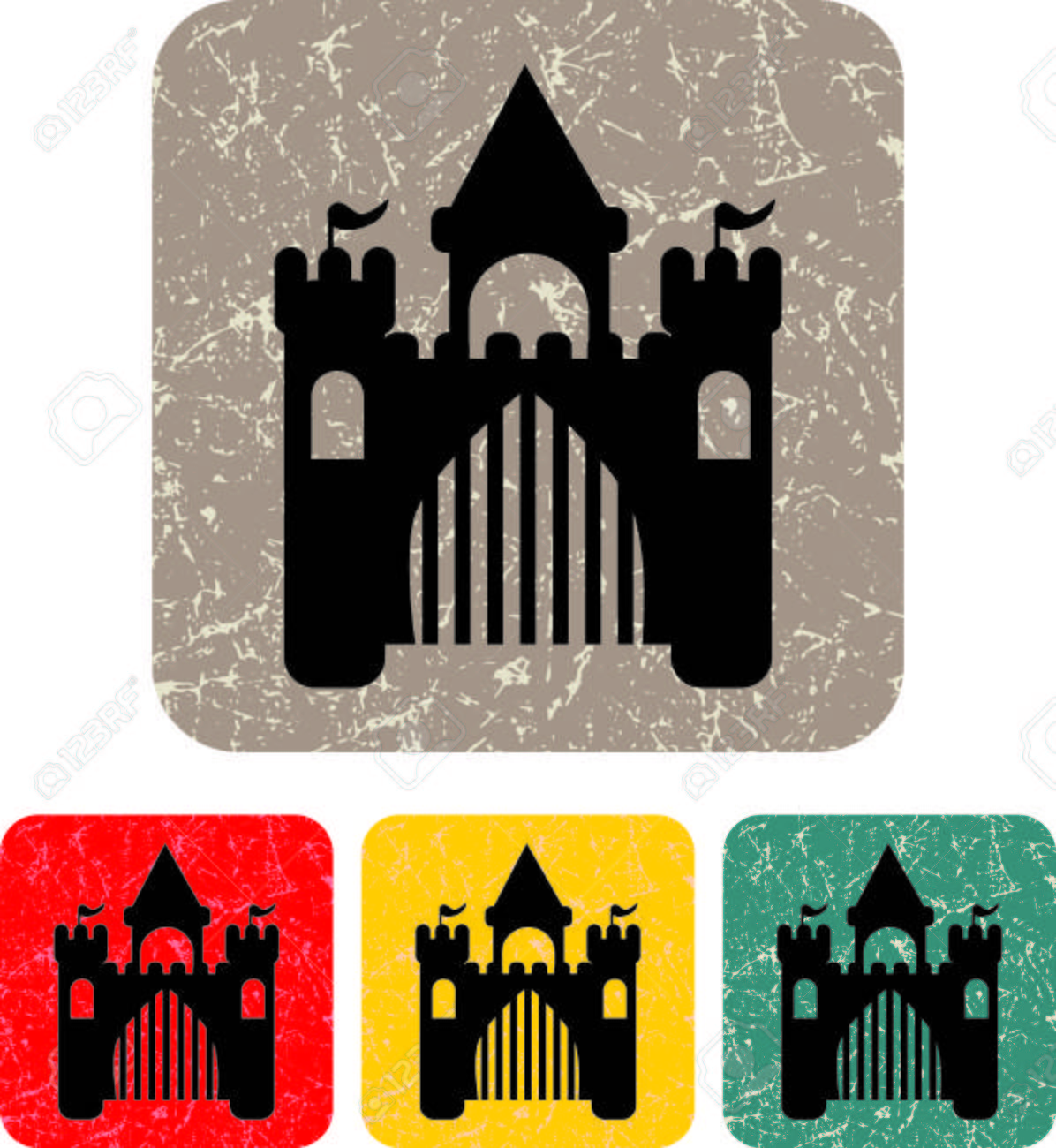 royal castle - Vector icon isolated Stock Vector - 22198516