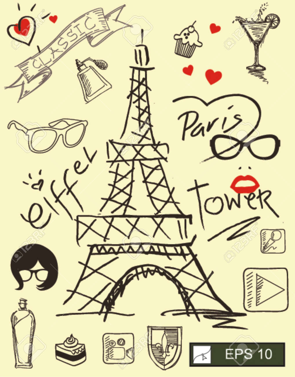 I Love Paris With Eiffel Tower