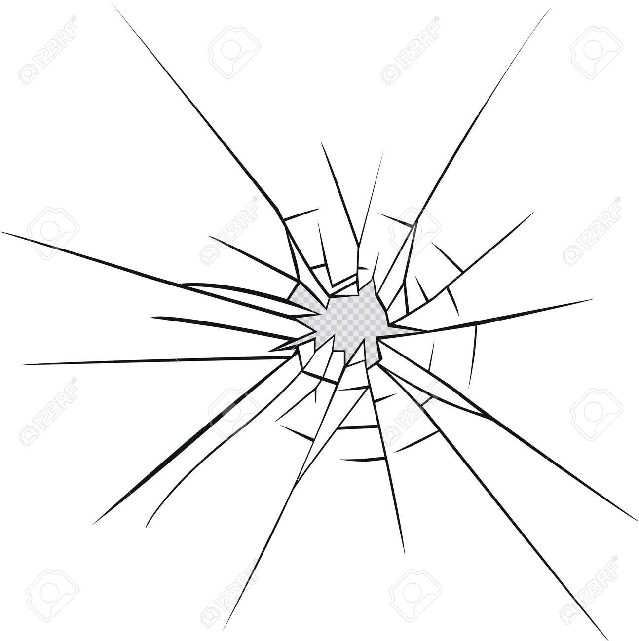 broken glass effect hole in the broken glass vector illustration rh 123rf com broken glass victorious chords broken glass vector art