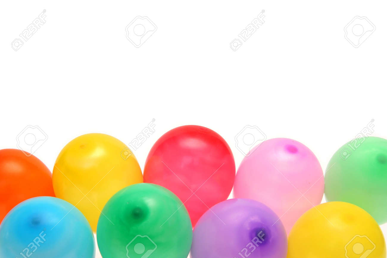 Plenty of colorful balloons on a white background Stock Photo - 874055