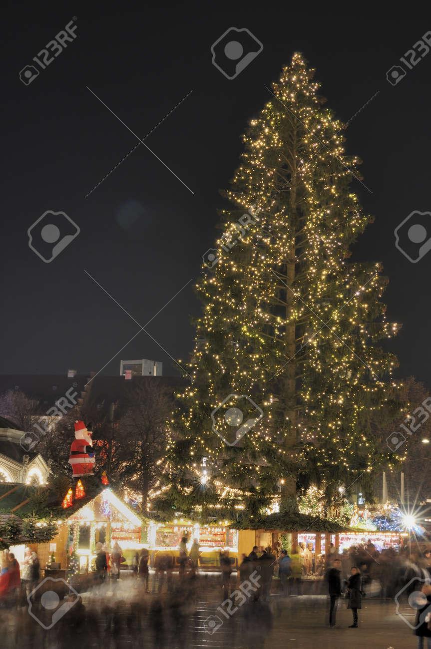 christmas tree at market, stuttgart Stock Photo - 11572983