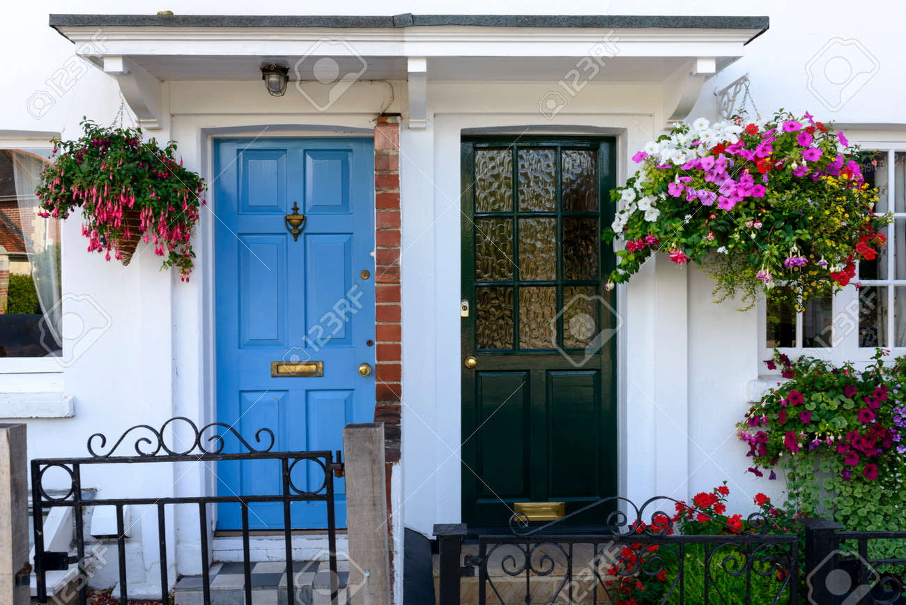 blue and black terrace doors Henley on Thames  painted doors of old terrace houses & Blue And Black Terrace Doors Henley On Thames  Painted Doors ...