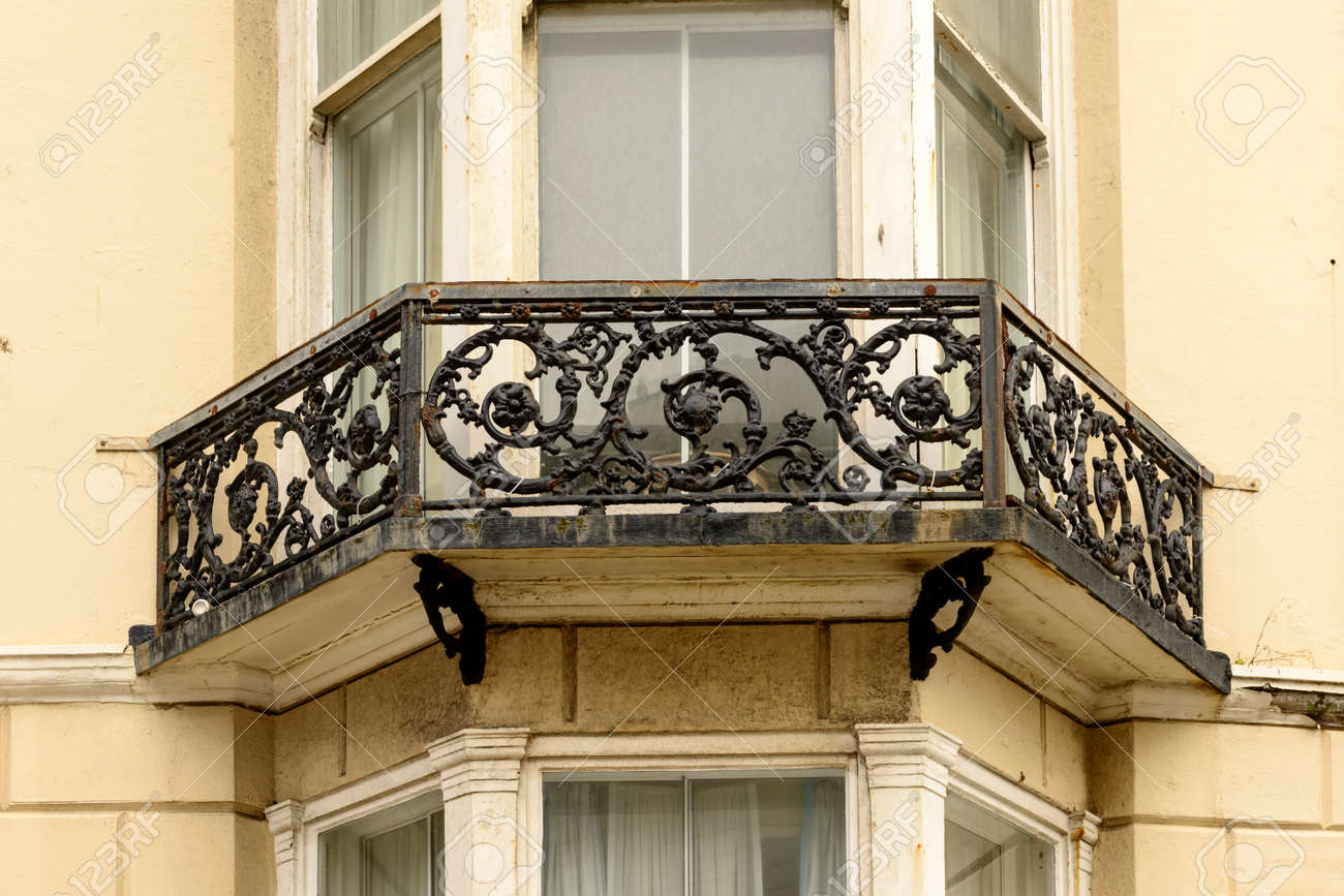 Barandilla De Hierro Fundido, Brighton, Detalle De Condecorado ...