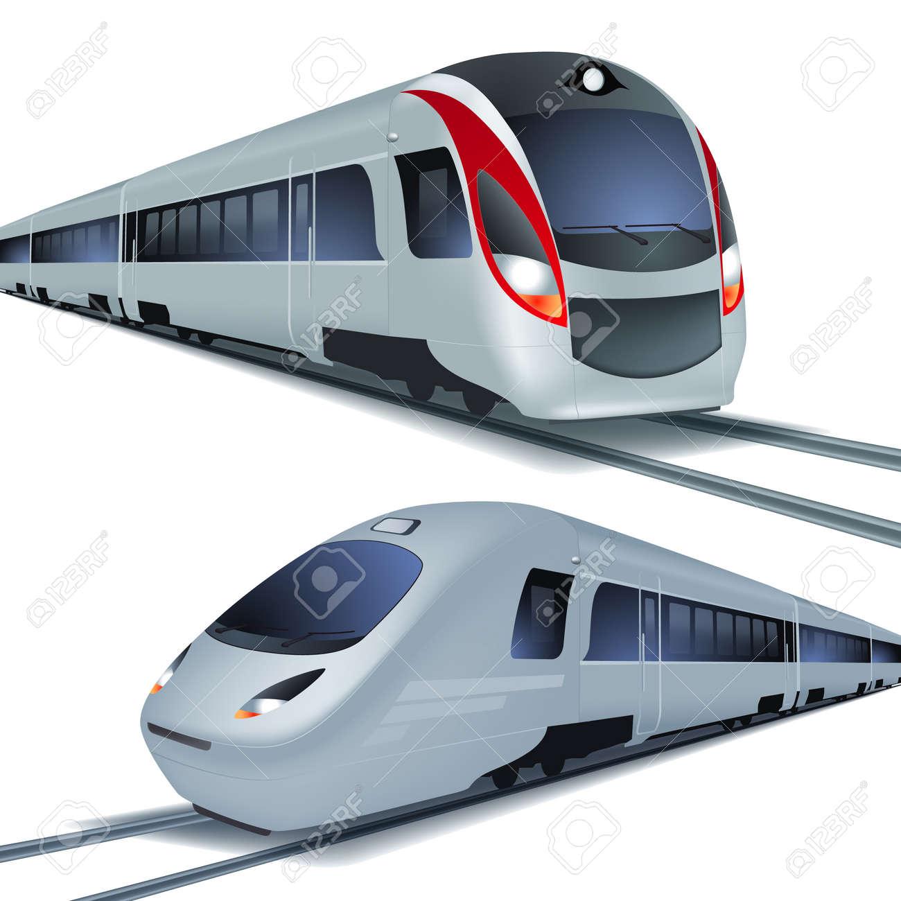 Modern high speed trains - 31604078