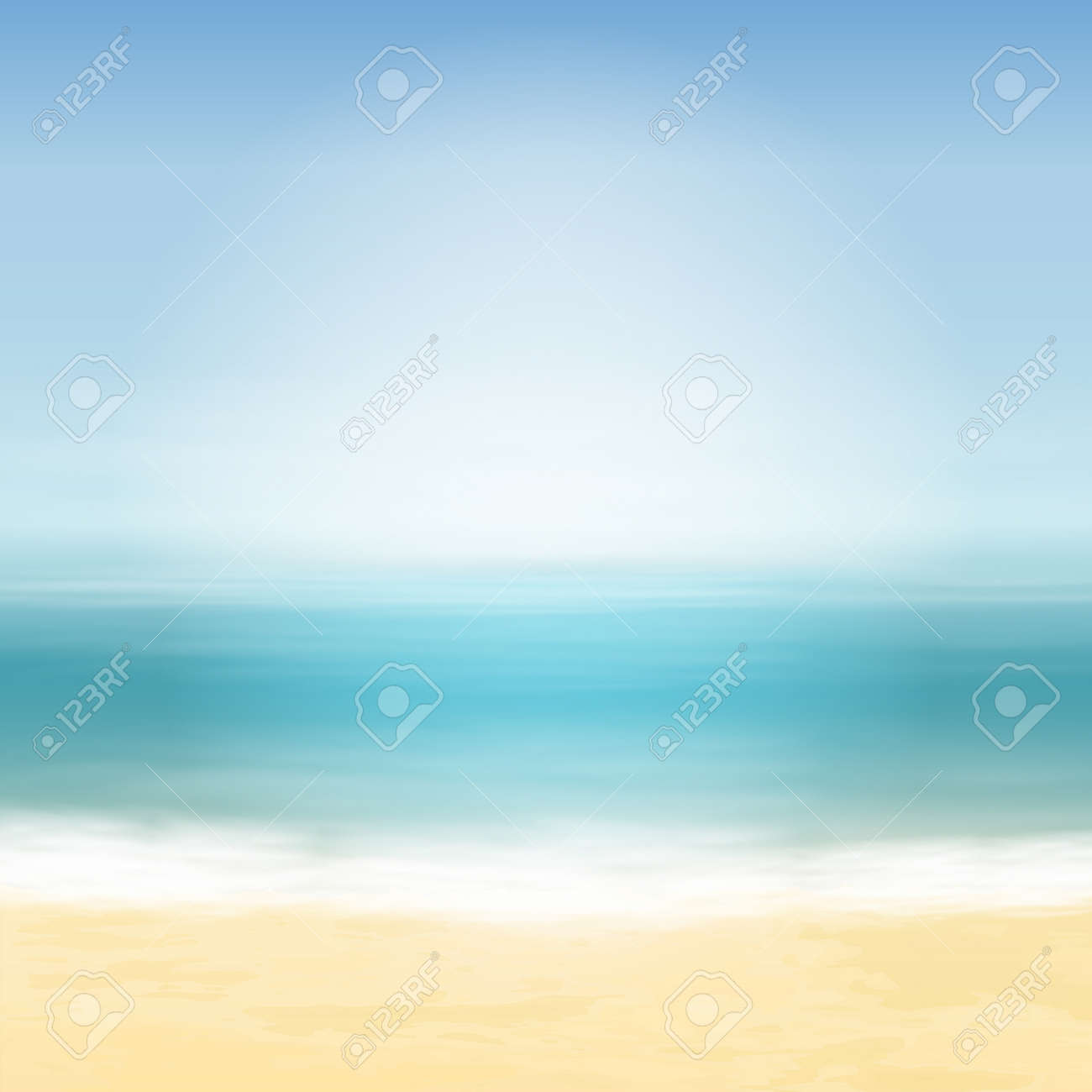 Beach and blue sea. Tropical background. EPS10 vector. - 35819319