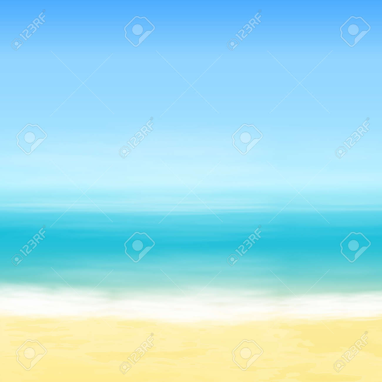 Beach and blue sea. Tropical background. - 35819428