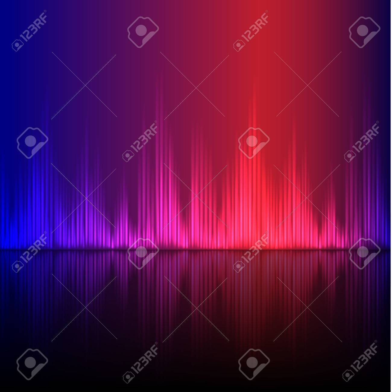 Abstract equalizer background. Blue-Purple wave. EPS10 vector. - 38859694