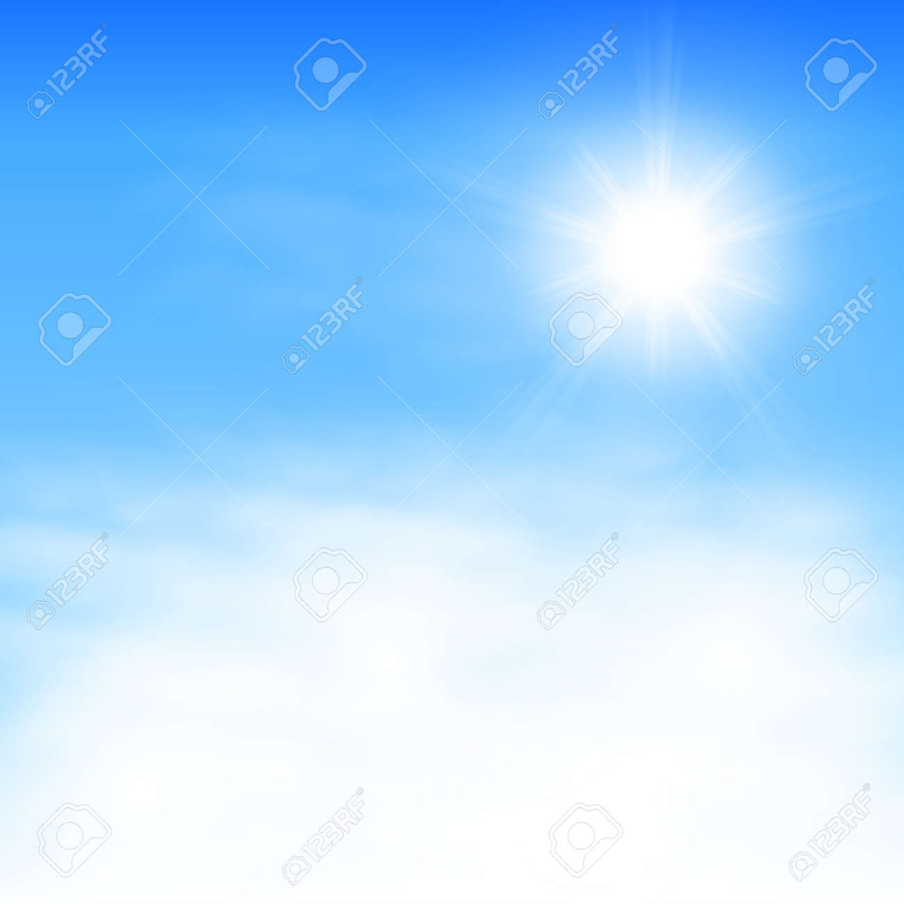 Sky with clouds and the sun. - 40569482