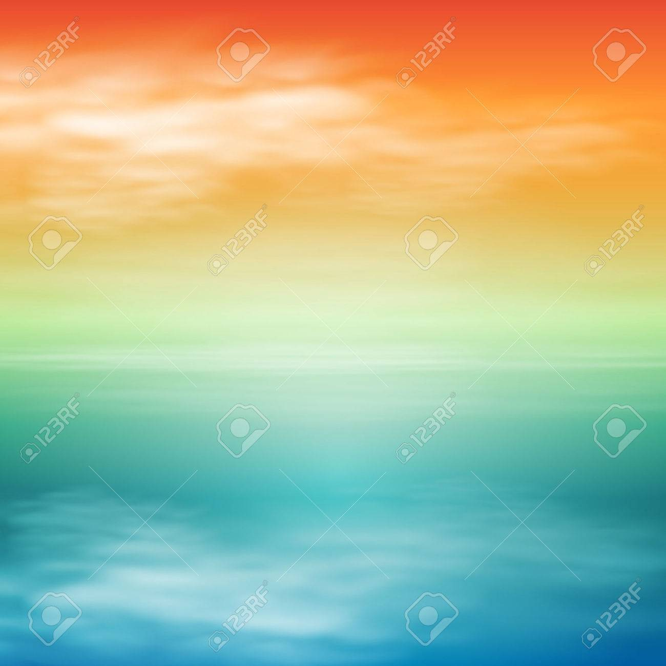 Sea sunset. Tropical background - 47170427