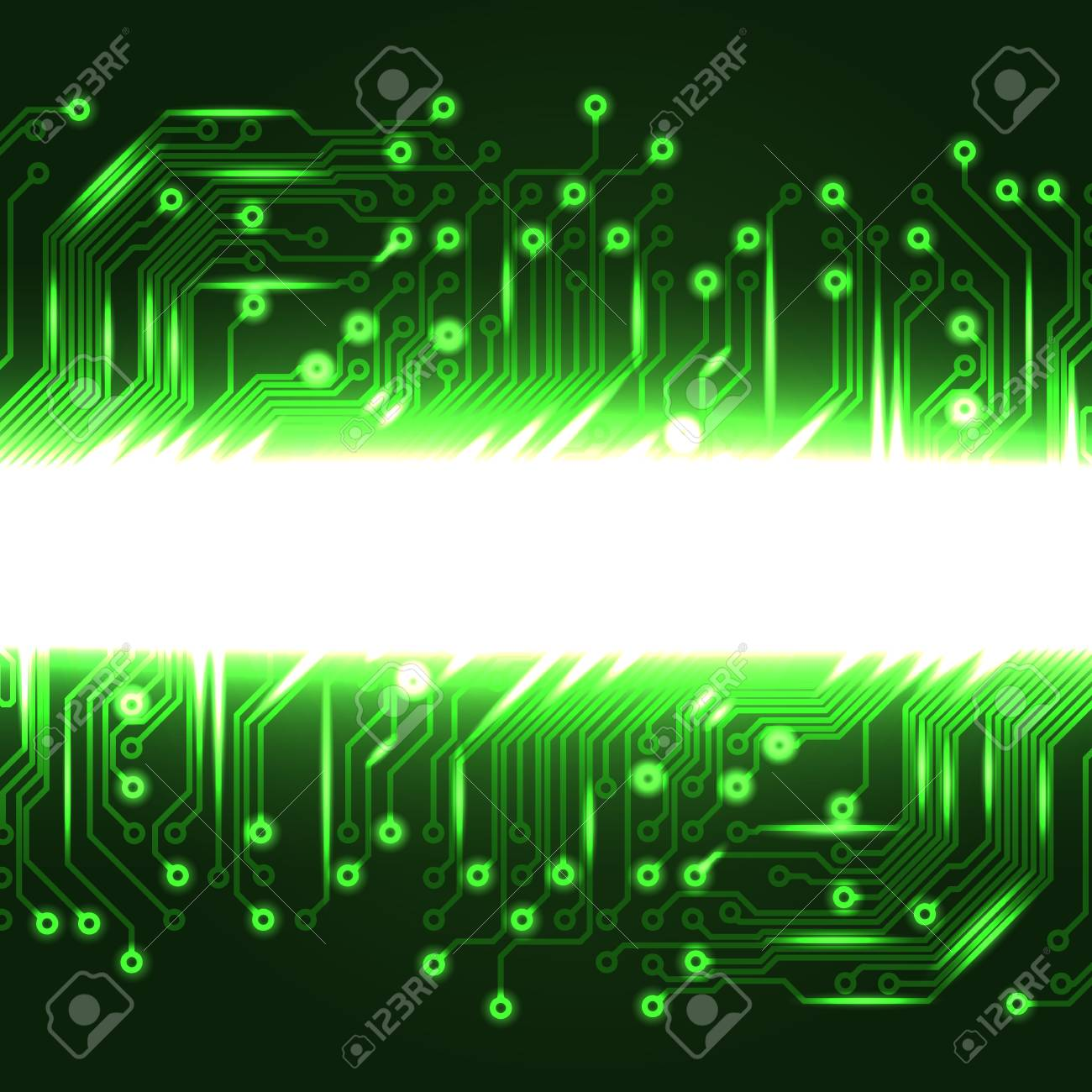 Abstract Electronics Green Background With Circuit Board Texture Vector Design Eps10 Pattern For Your Business