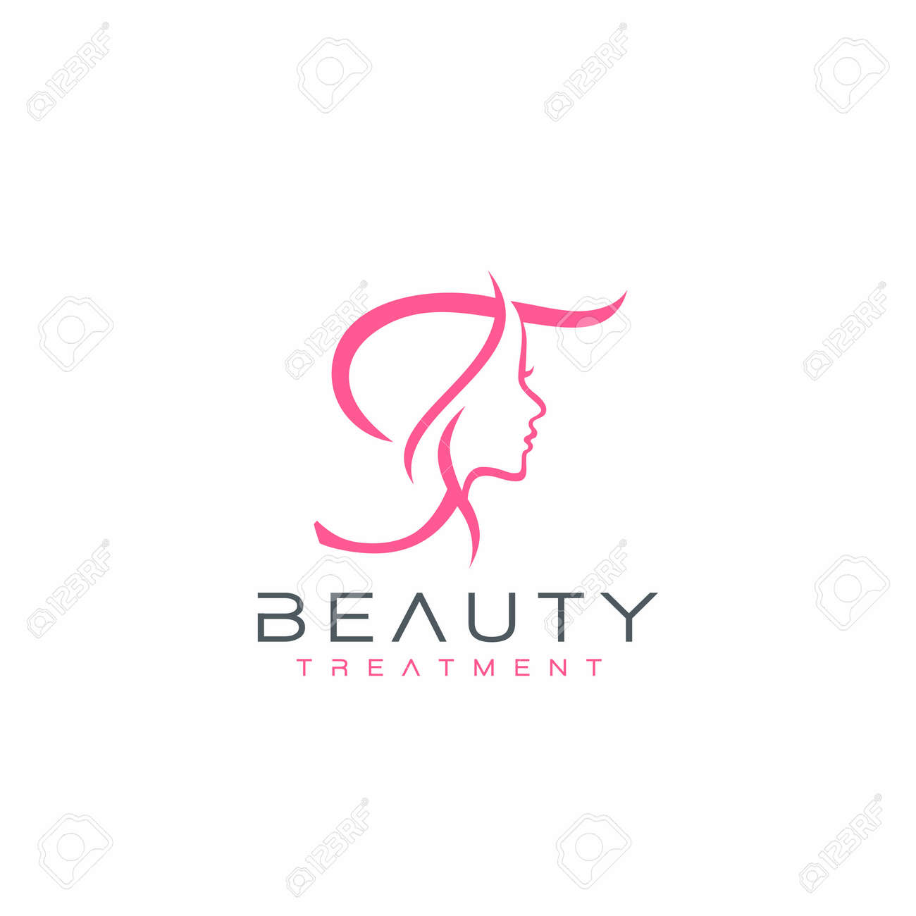 Letter T Beauty Face Logo Design Vector Icon Royalty Free Cliparts Vectors And Stock Illustration Image 142538918