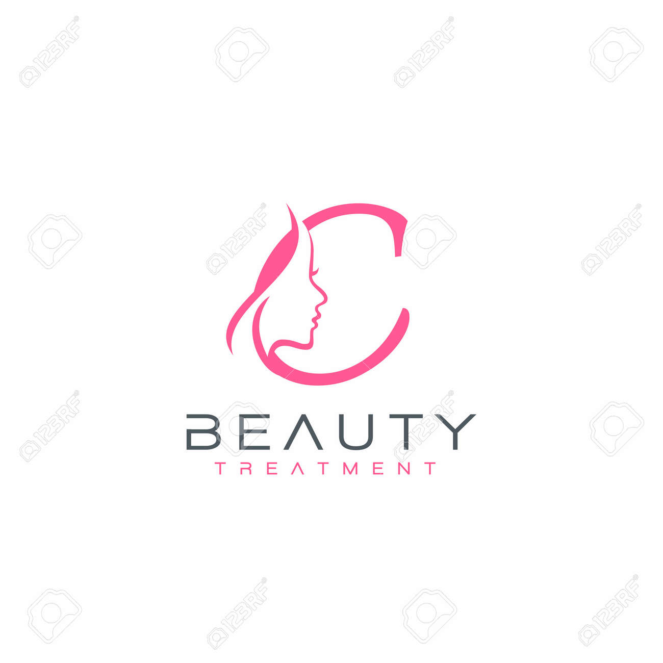 Letter C Beauty Face Logo Design Vector Icon Royalty Free Cliparts Vectors And Stock Illustration Image 142539297