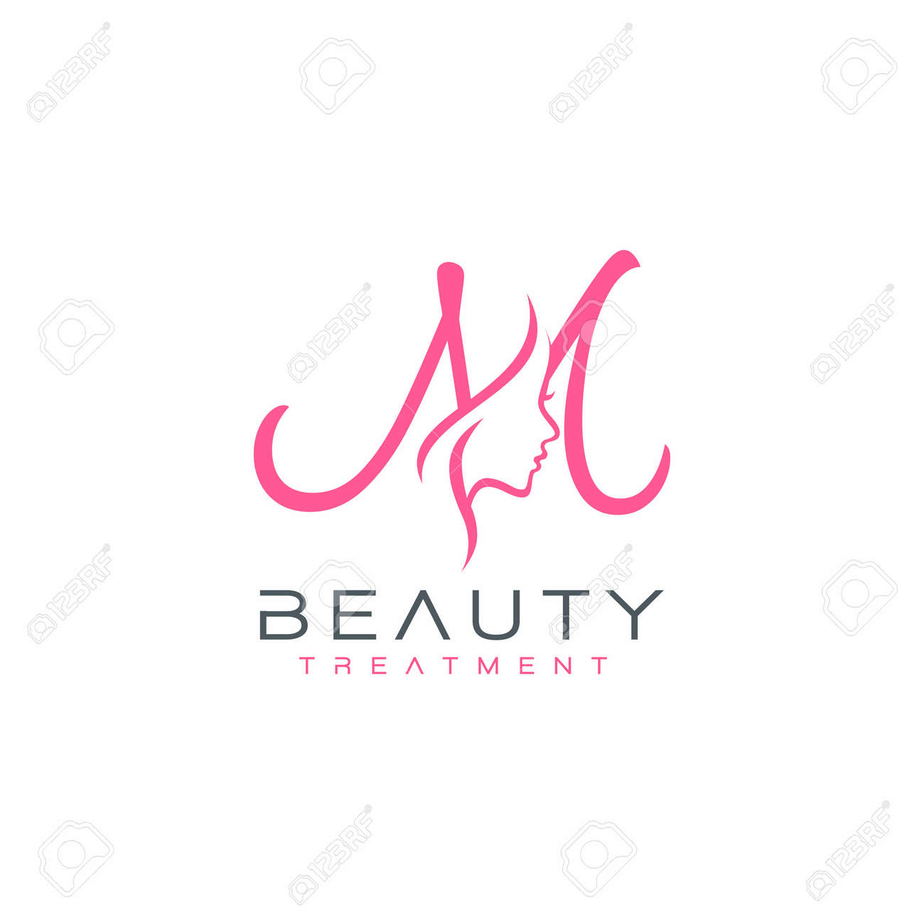 Letter M Beauty Face Logo Design Vector Icon Royalty Free Cliparts Vectors And Stock Illustration Image 142539307