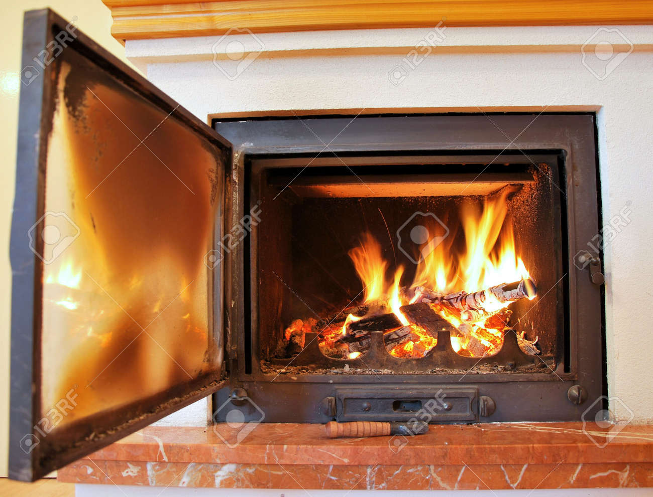 Beautiful Pictures Of Newly Installed Pellet Fireplace Magnum Heat ...