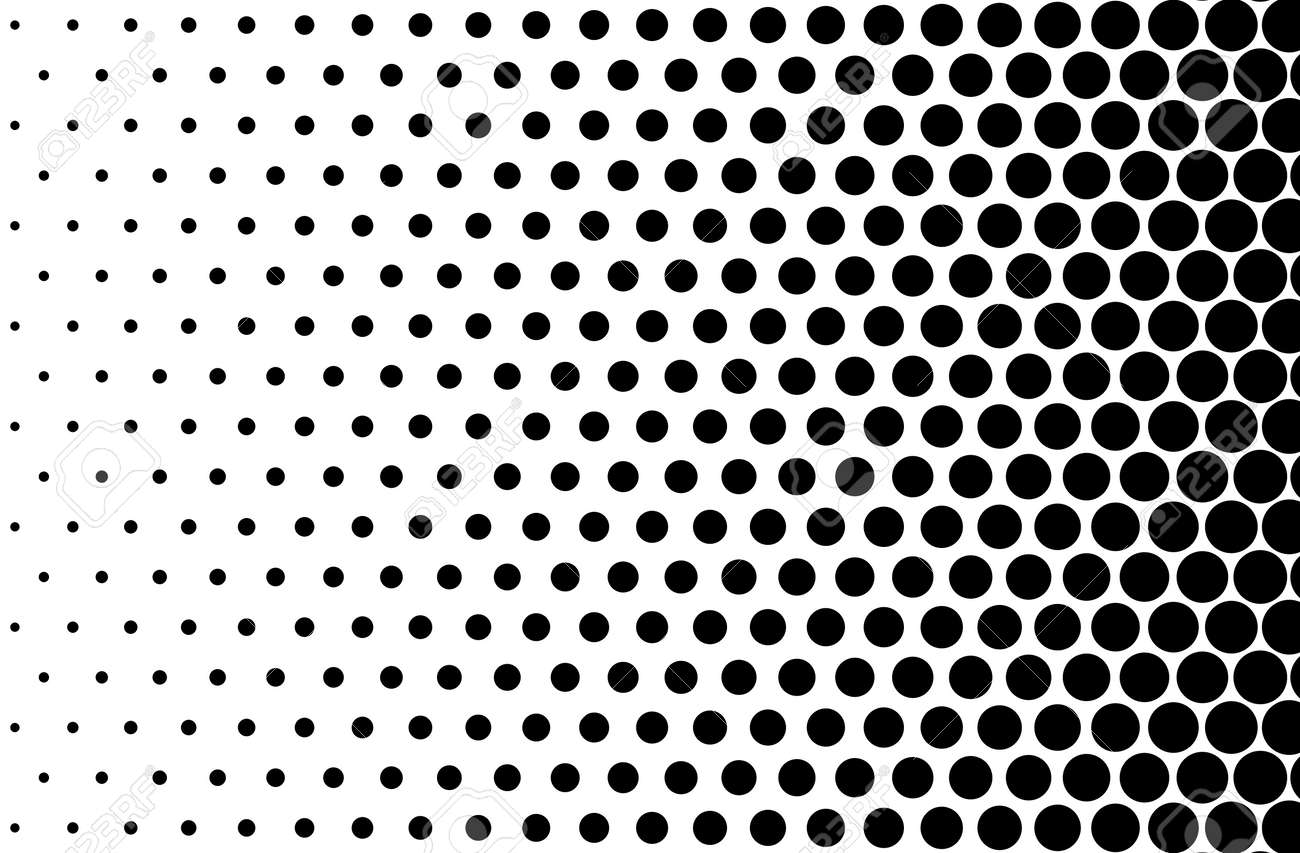 Basic halftone dots effect in black and white color halftone effect dot halftone