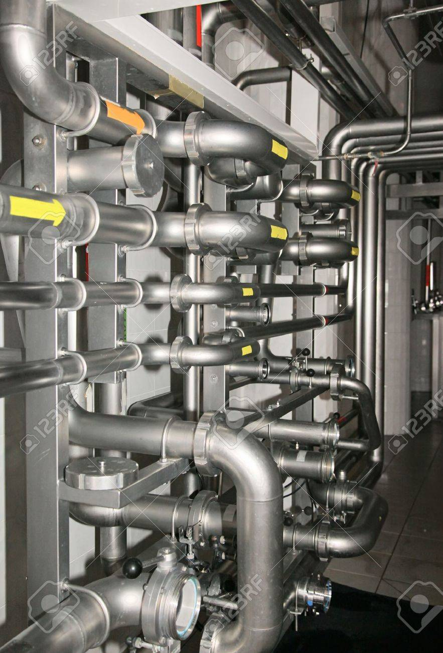 Part of Water purification filter equipment with many metal pipes Stock Photo - 7409329