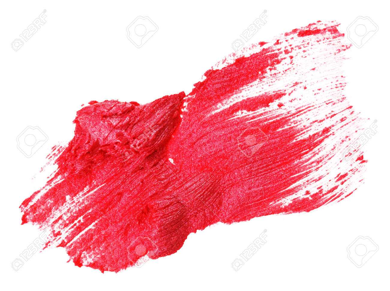 Red lipstick stroke (sample), isolated on white Stock Photo - 9567865