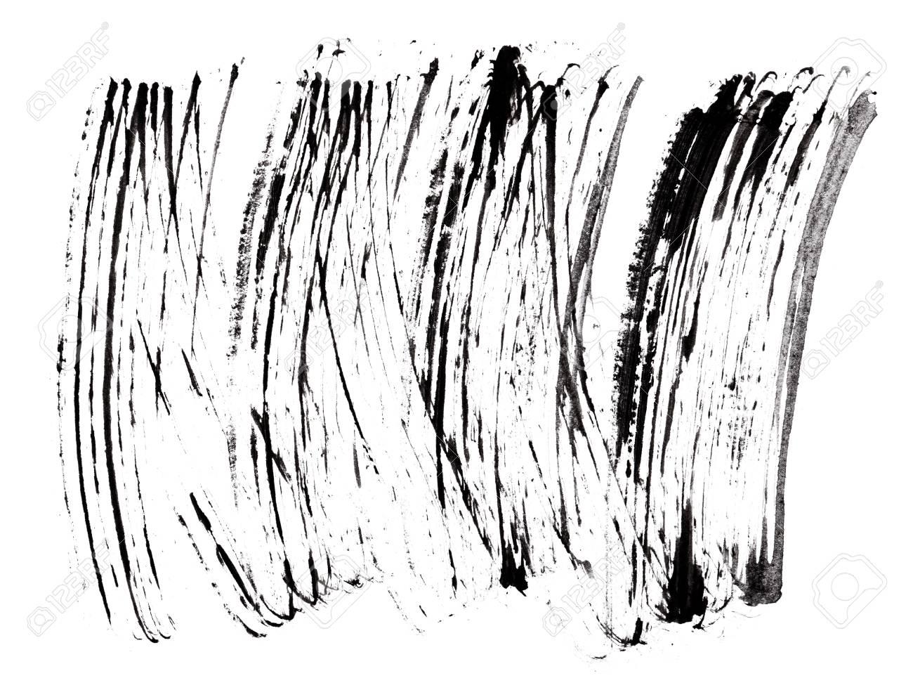 Stroke (sample) of black mascara, isolated on white macro Stock Photo - 9963857