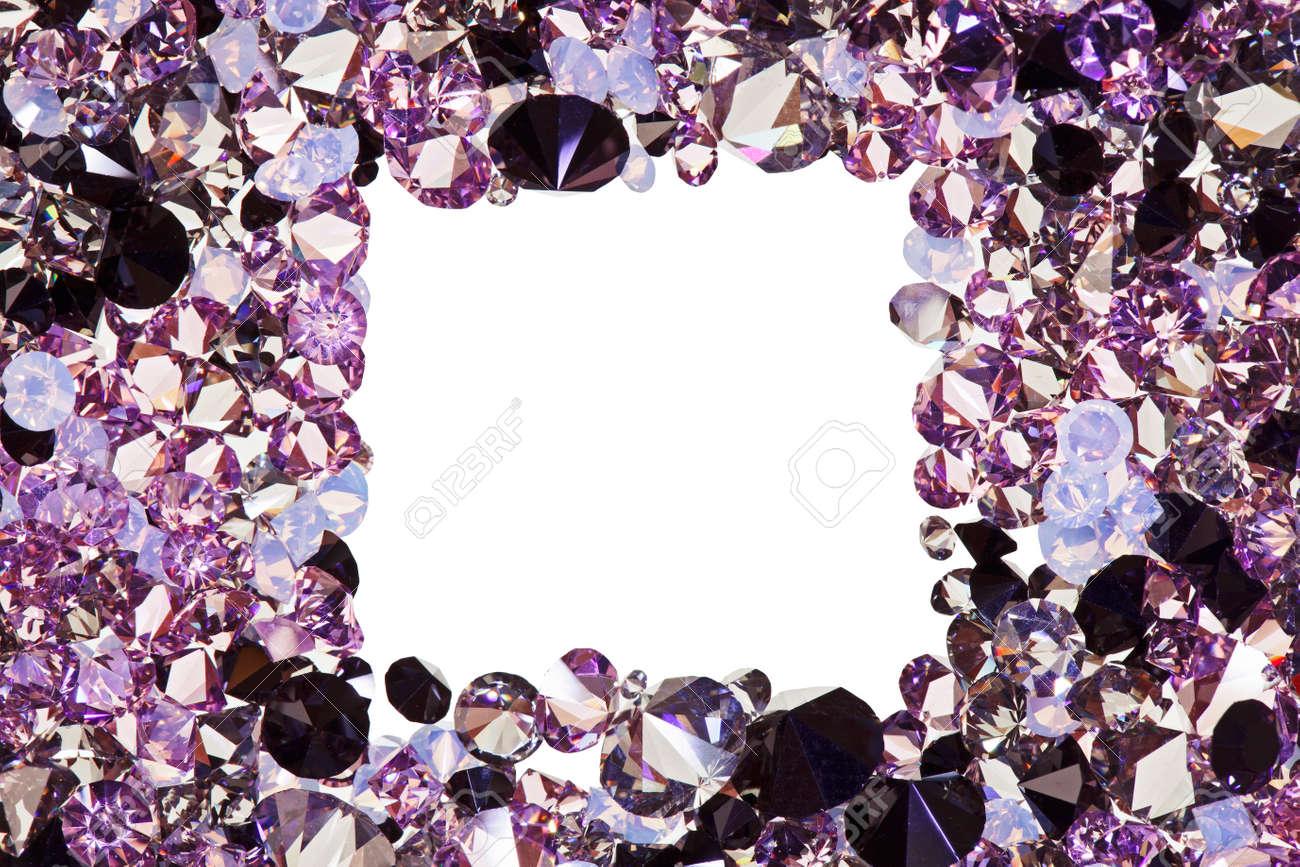 Marco De La Plaza A Partir De Muchos Pequeños Diamantes De Color ...