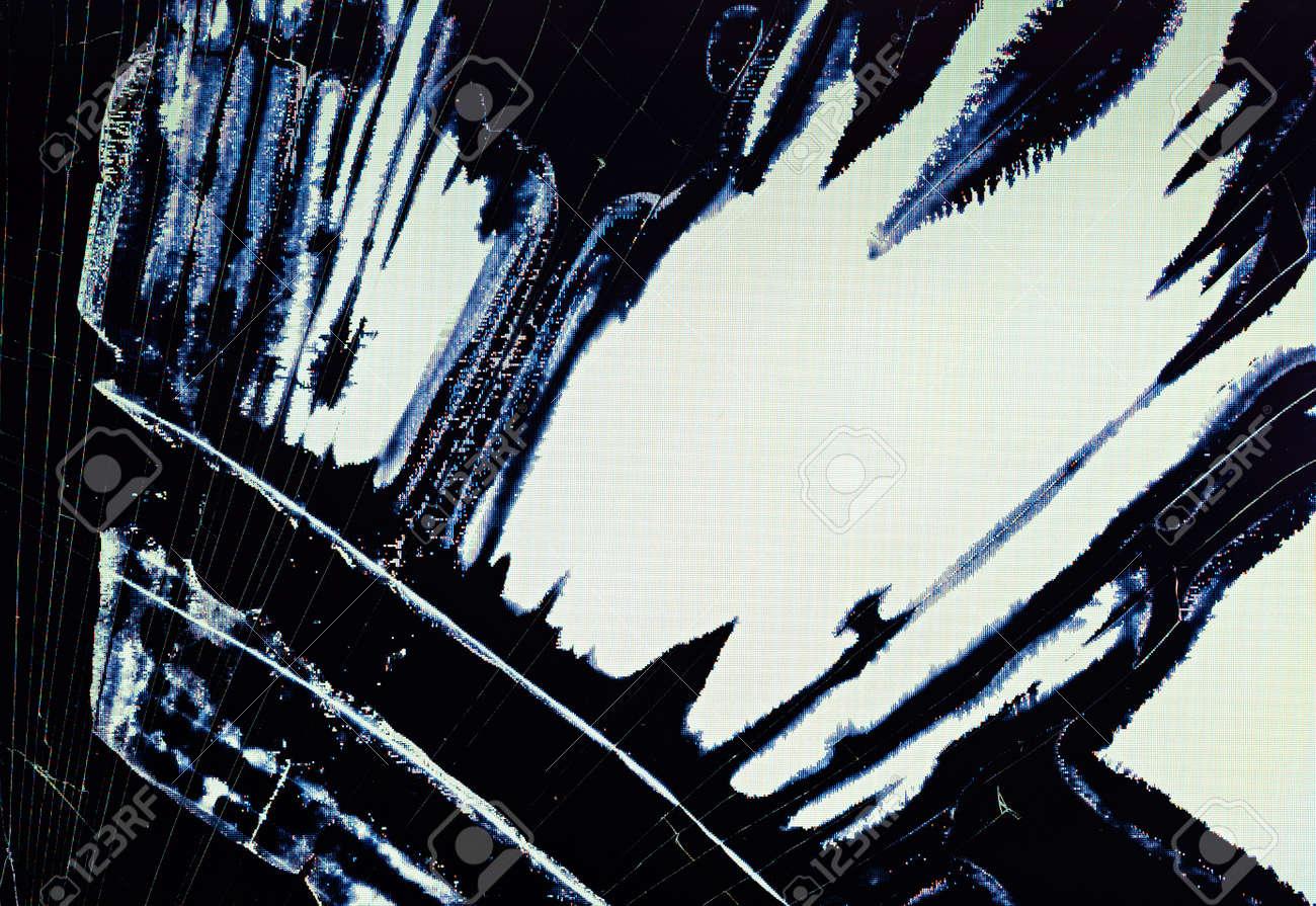Split broken LCD screen (display) background Stock Photo - 15213850