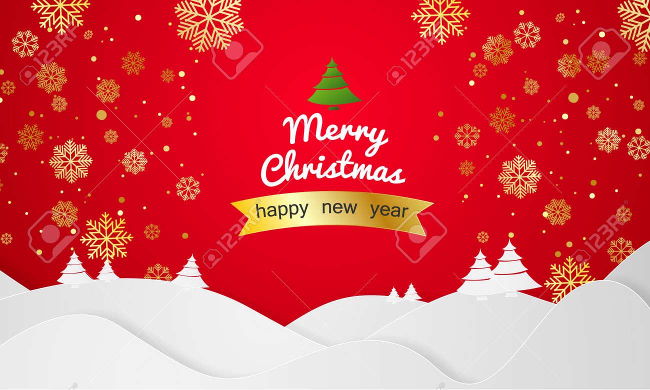 Weihnachten Landschaft Vektor Grußkarte Lichter Und Hintergrund ...