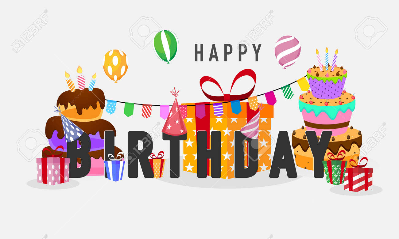birthday party Colorful celebration background. - 143583365
