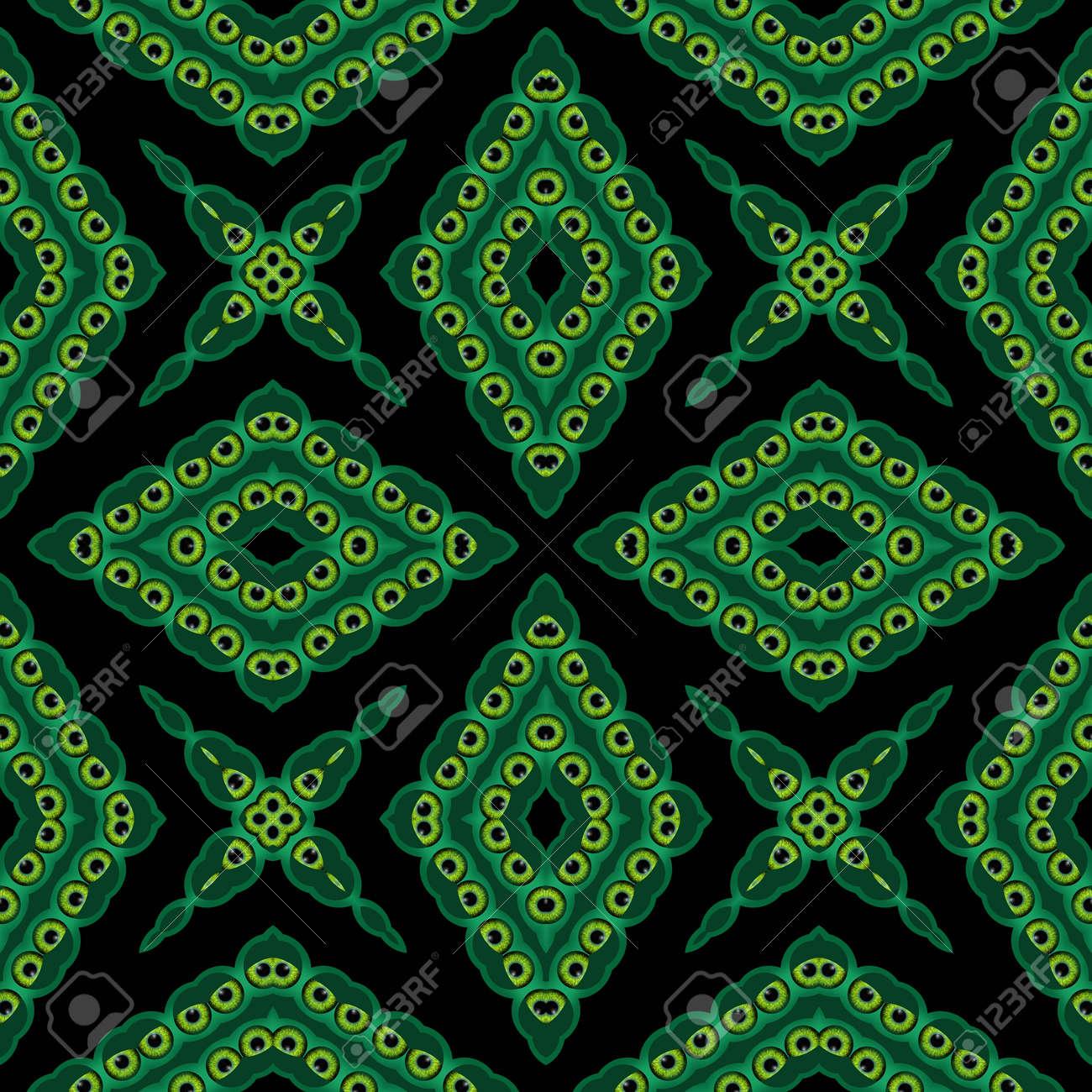 Immagini Stock Sfondo Verde E Nero Caleidoscopico Generato Senza