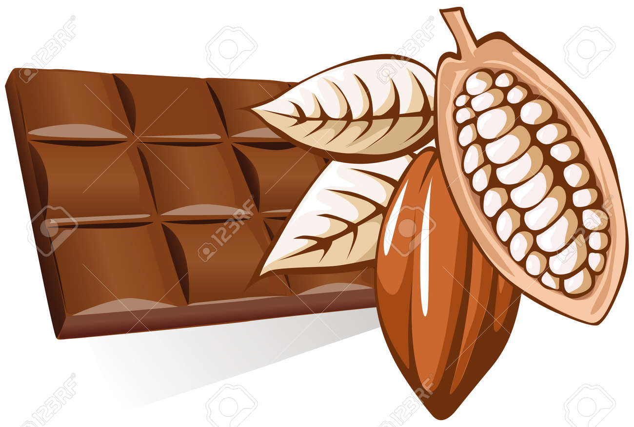 chocolate with cocoa bean - 10866451