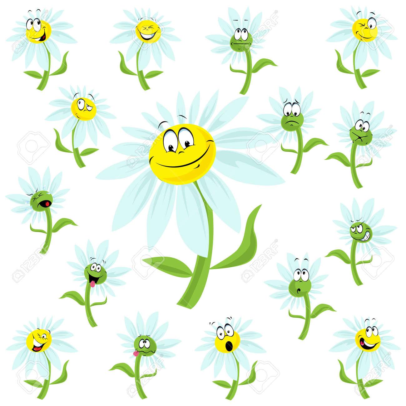 Happy daisy flower cartoon royalty free cliparts vectors and stock happy daisy flower cartoon stock vector 11129641 izmirmasajfo