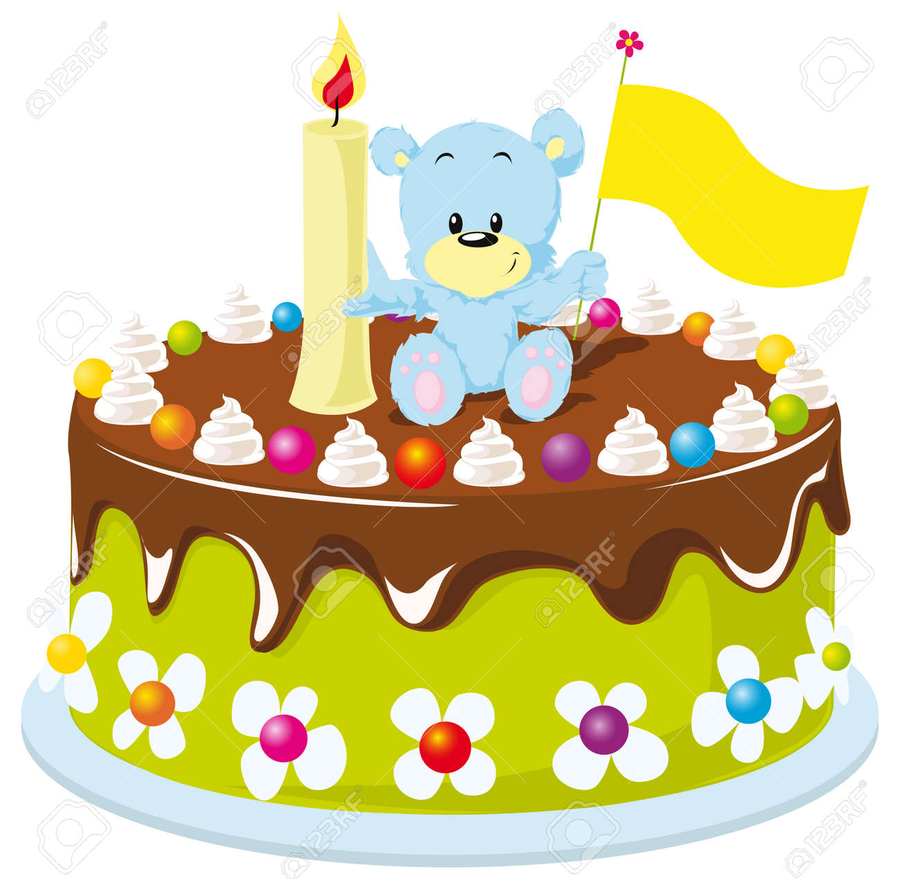 Happy Birthday Cake Fur Baby Standard Bild