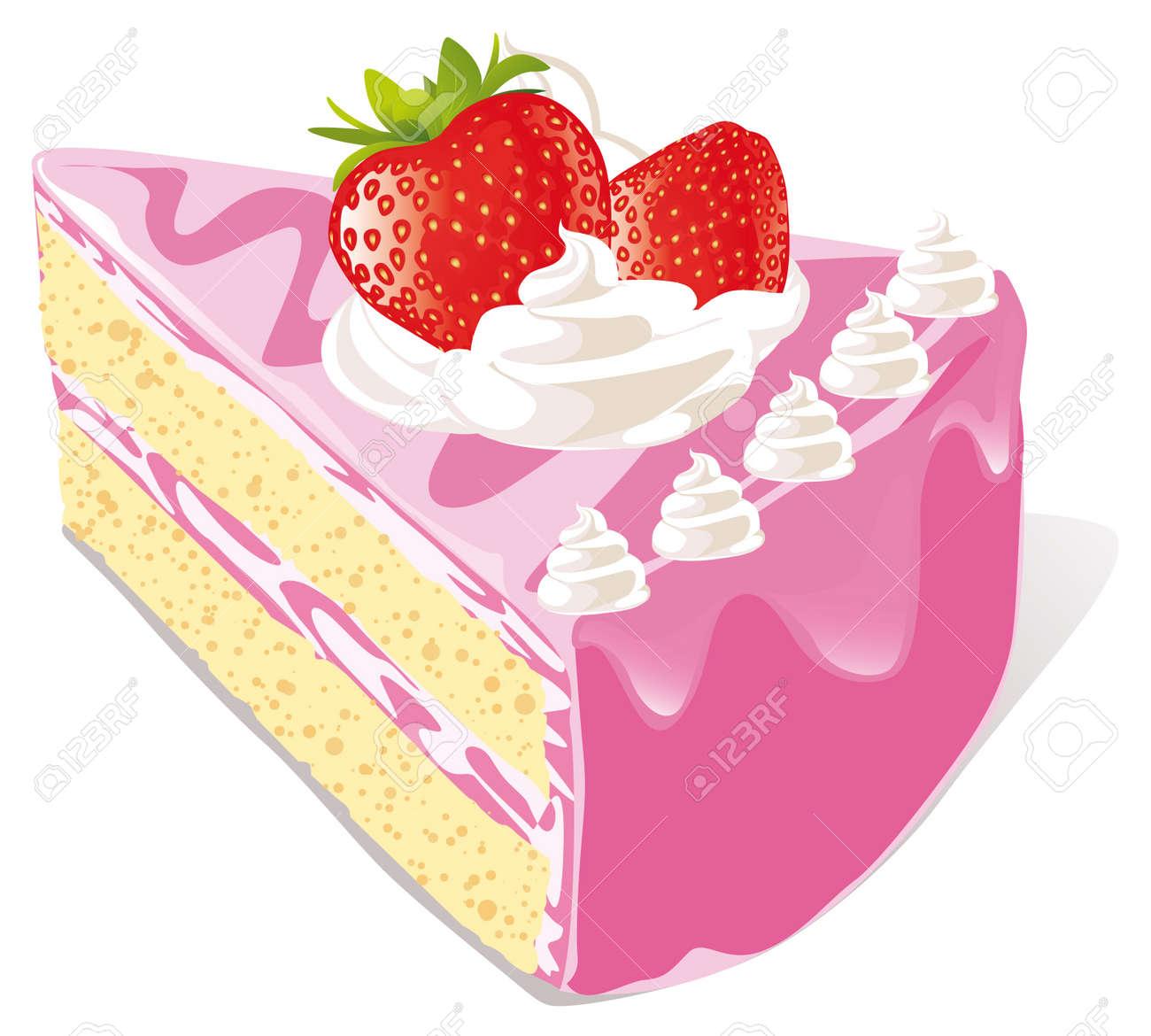 strawberry cake - 14872728