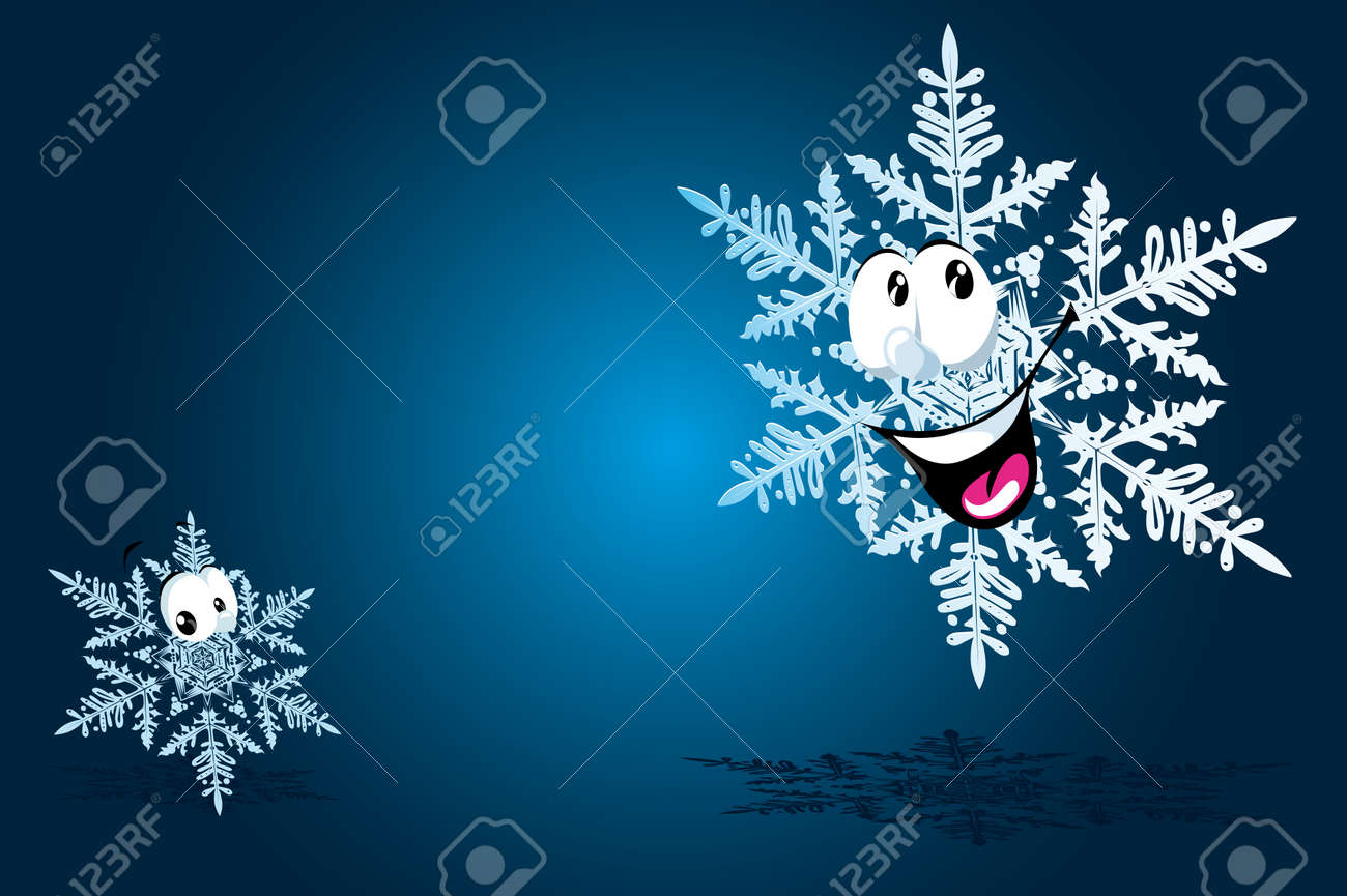 happy snowflake Stock Vector - 14951848