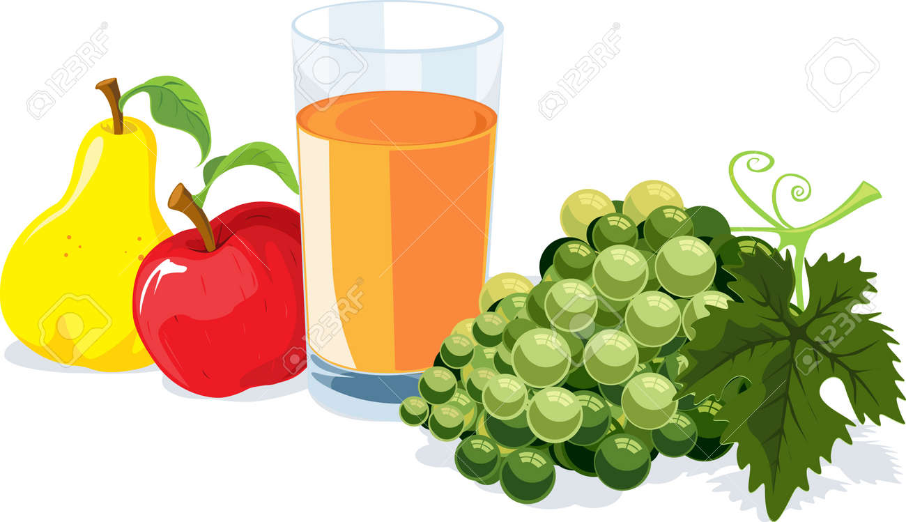 fruit and juice Stock Vector - 14951721