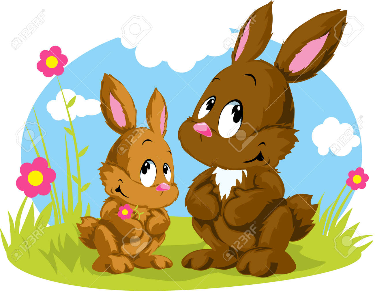 two rabbits Stock Vector - 14951822