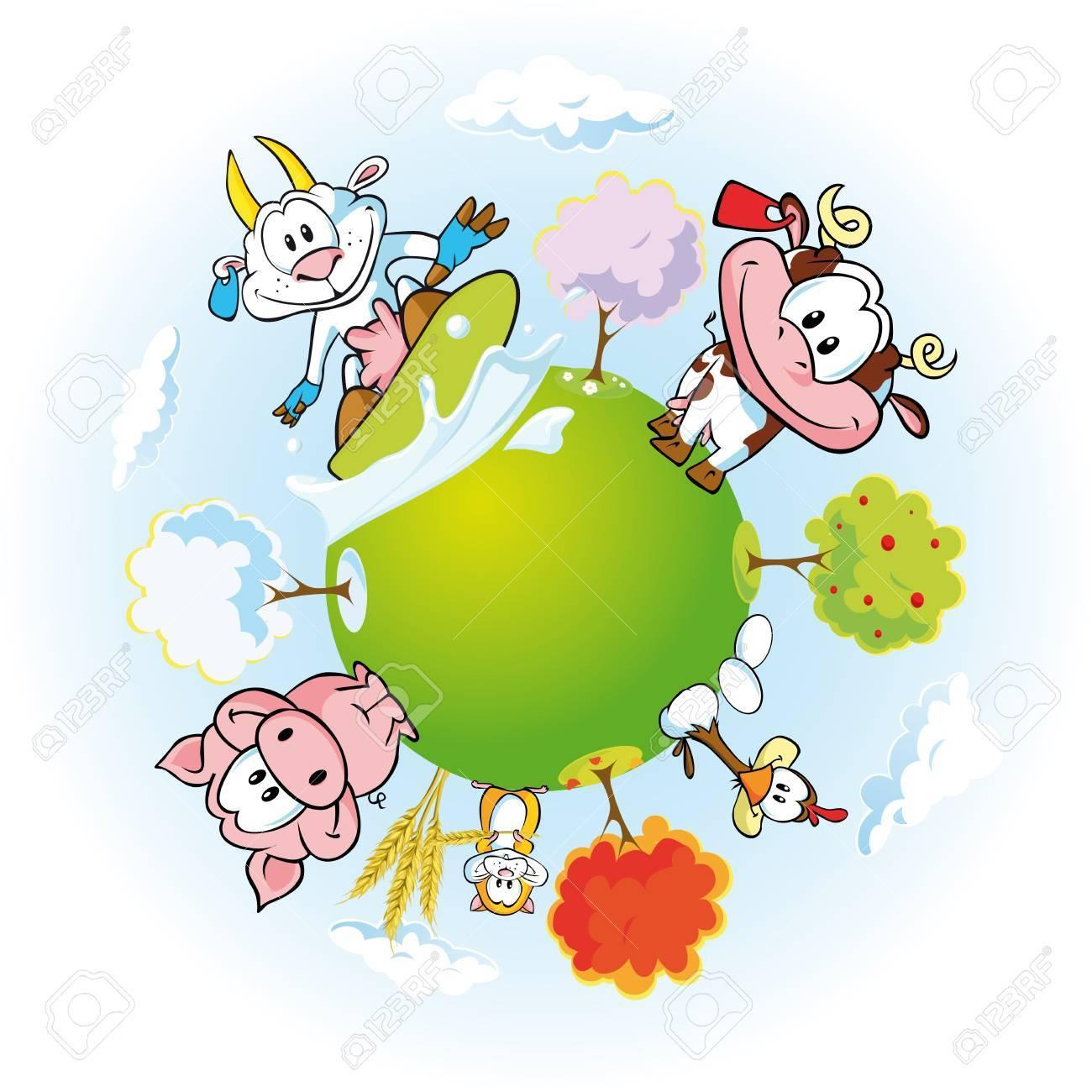 animal farm land Stock Vector - 15017231