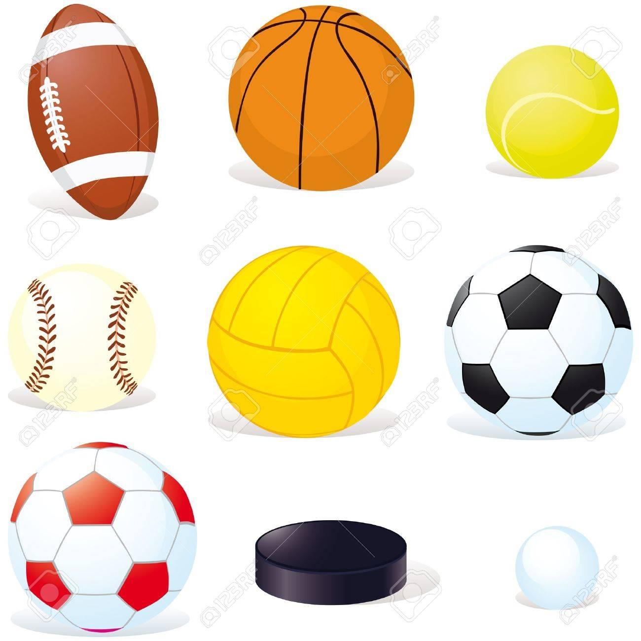 Sport Balls Isoletad On White Background Stock Vector