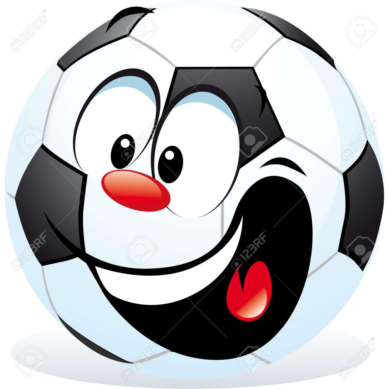cartoon soccer ball Stock Vector - 15017246