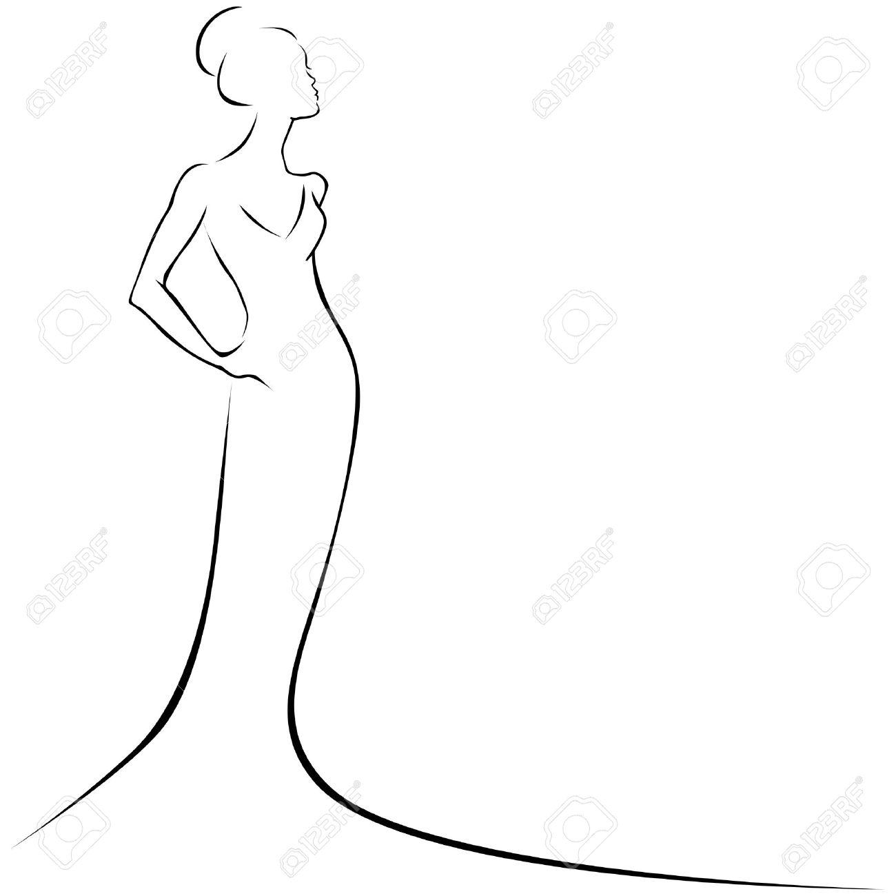 black line woman Stock Vector - 15017255