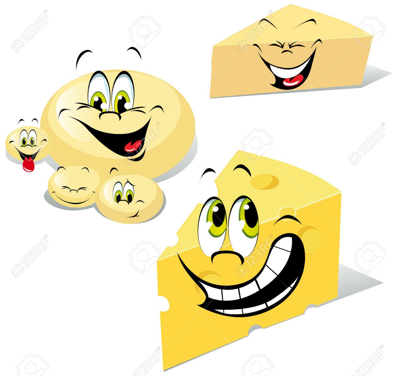 cheeses cartoon Stock Vector - 15094543