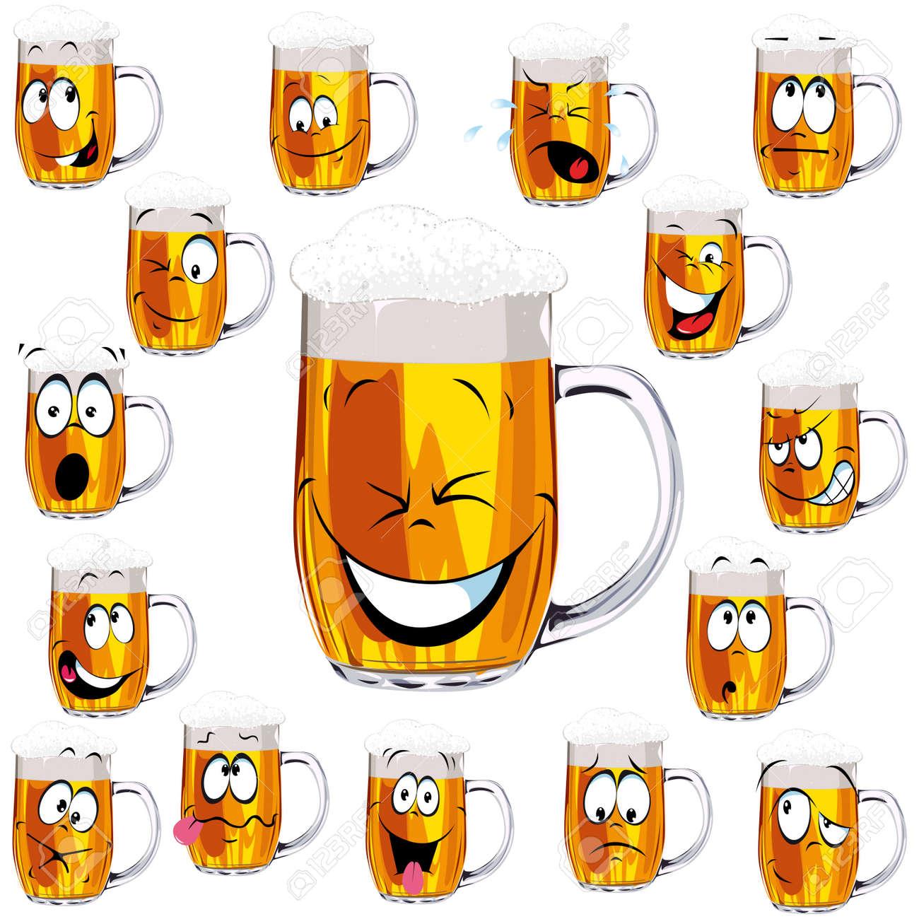 Mug fresh beer cartoon Stock Vector - 15171993