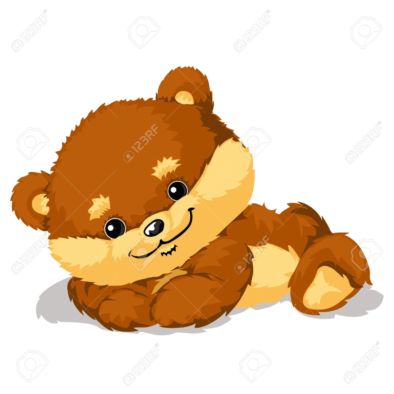かわいいクマさんのイラストのイラスト素材 ベクタ Image