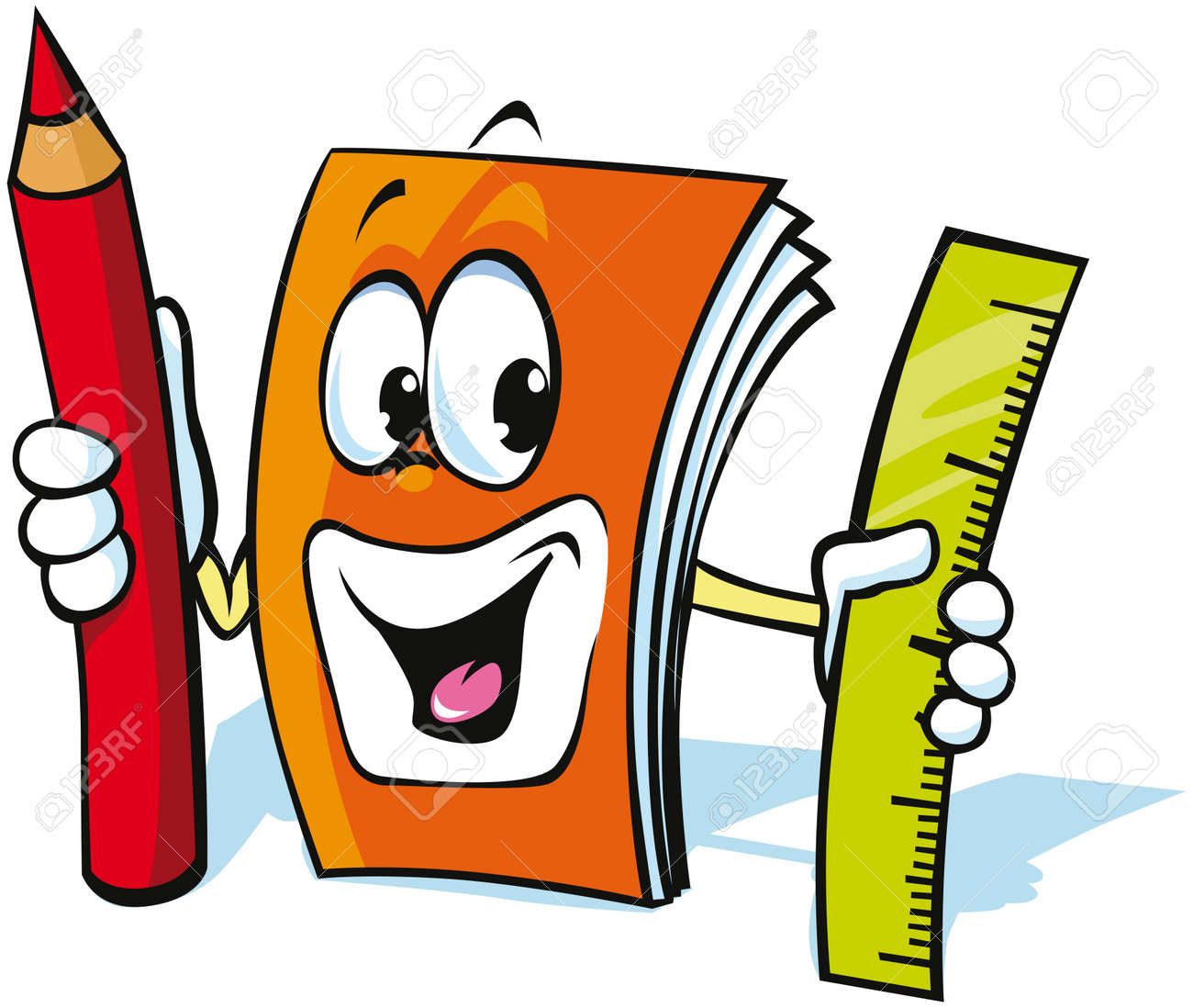 Funny Exercise Book Cartoon Royalty Free Cliparts Vectors And Stock Illustration Image 15171983