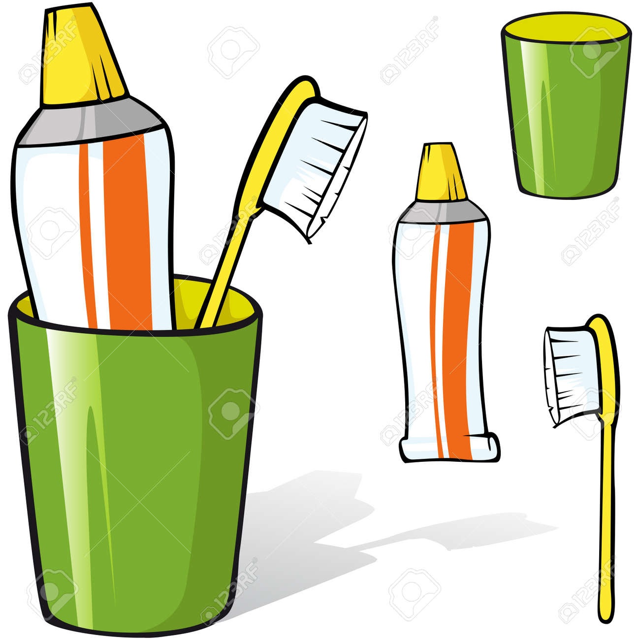 12,425 Toothbrush Stock Illustrations, Cliparts And Royalty Free ...