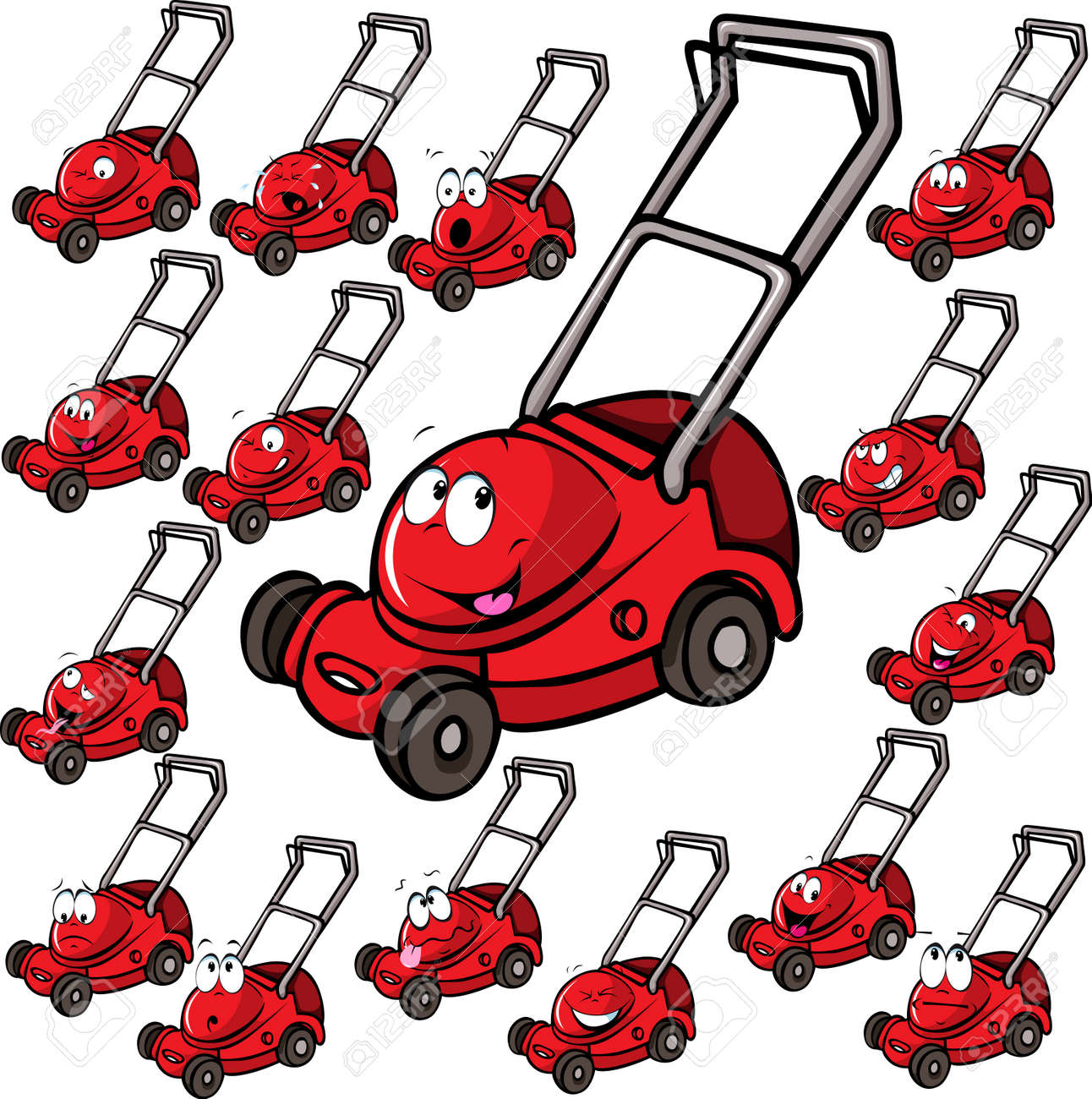 1,690 Lawn Mower Cliparts, Stock Vector And Royalty Free Lawn ...
