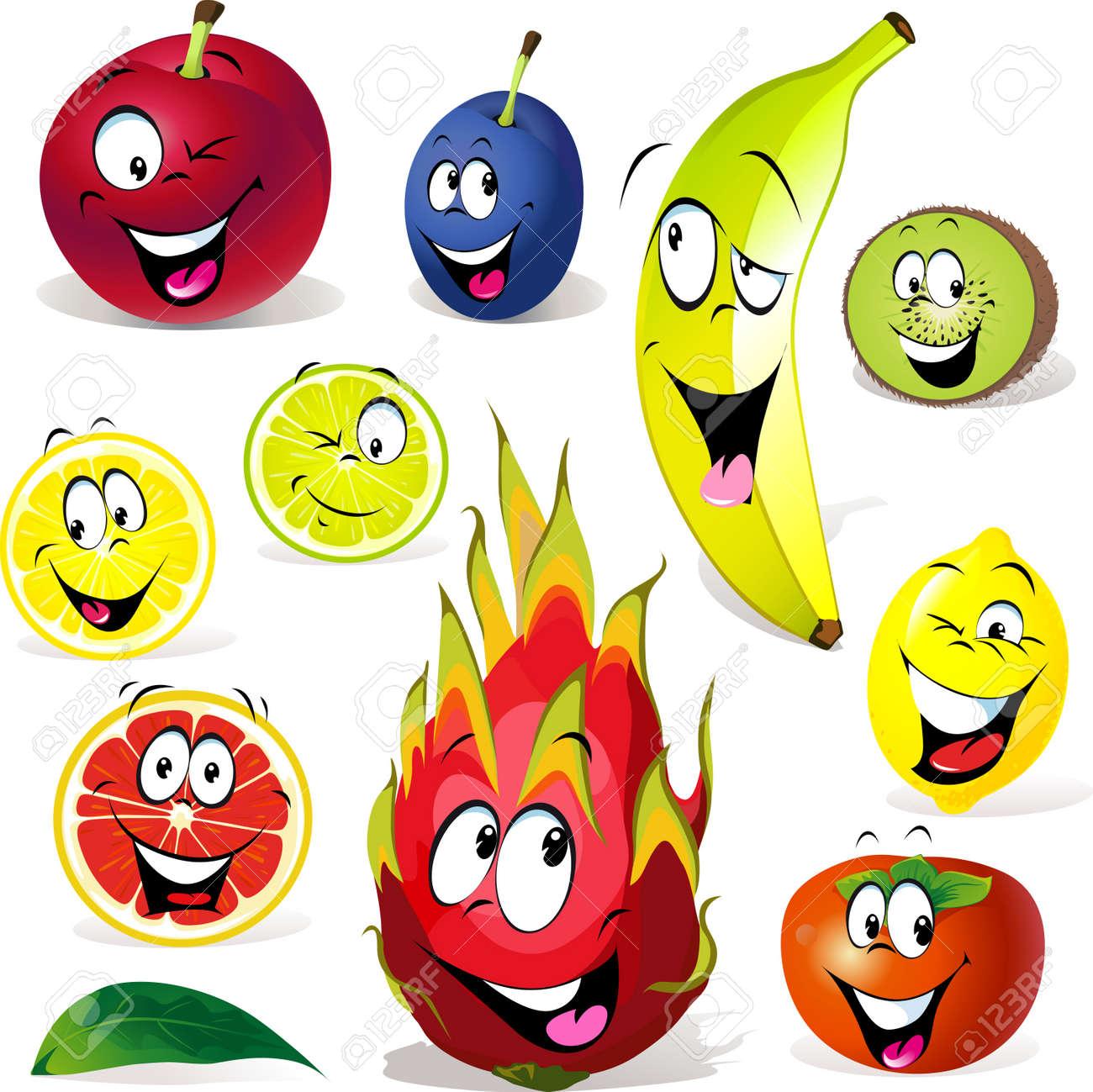 Cartoon Crazy Face Crazy Face Fruit Cartoon