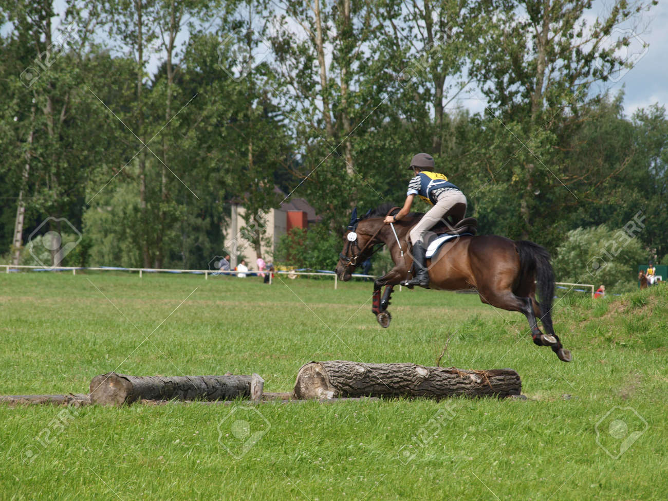 Jumping Horse Races Cross Country Stock Photo Picture And Royalty Free Image Image 18232935