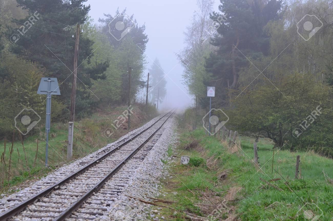 unique historic narrow-gauge railway. South Bohemia, Czech Republic Stock Photo - 78597709
