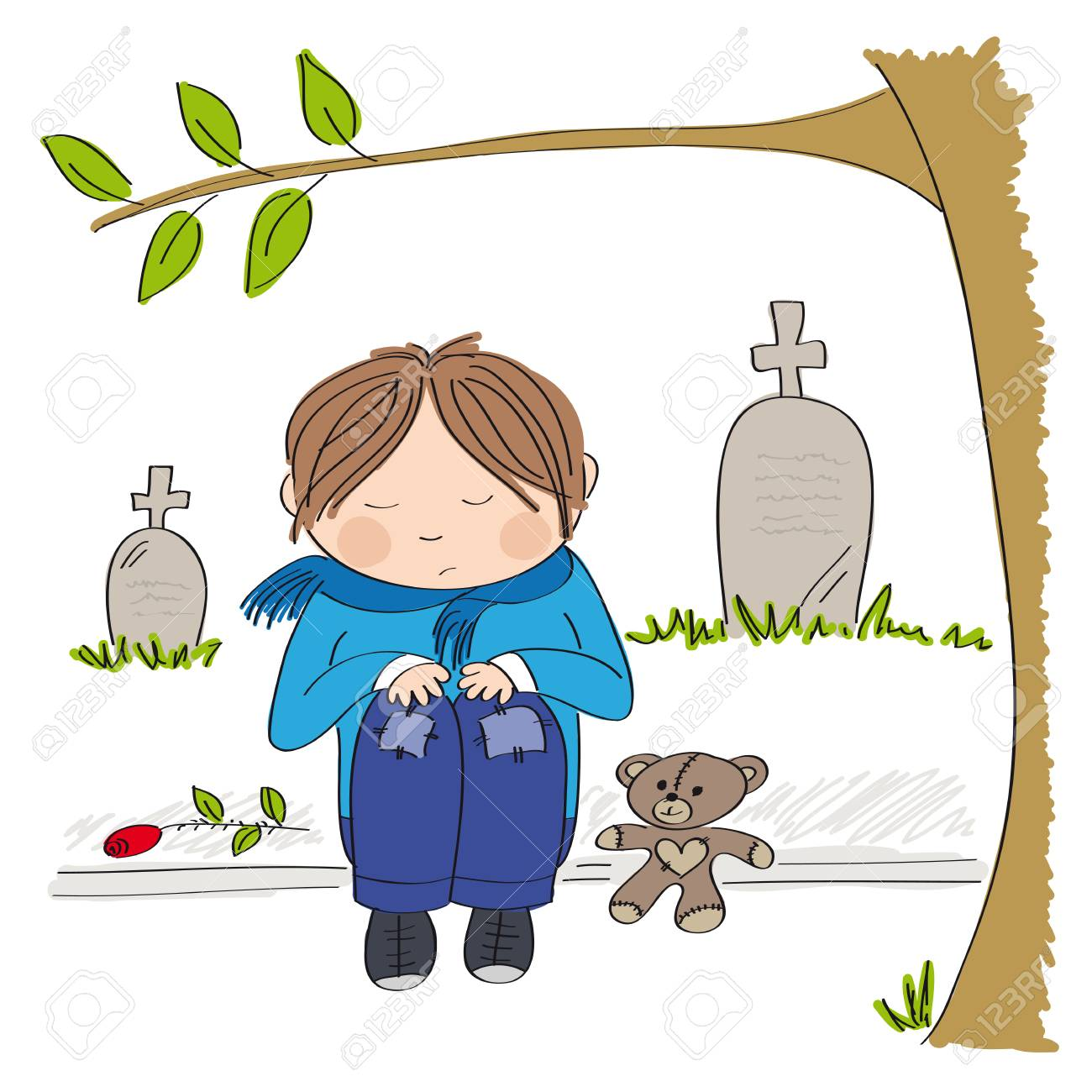 Sad Boy Sitting In A Corner Royalty Free Cliparts, Vectors, And Stock  Illustration. Image 114992884.